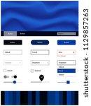 dark blue vector ui ux kit with ...