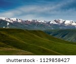 pass in the almaty mountains ... | Shutterstock . vector #1129858427