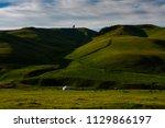 kazakh yurt in assy plateau in... | Shutterstock . vector #1129866197