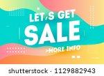 let's get sale promotion... | Shutterstock .eps vector #1129882943