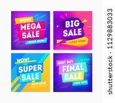 sale for web app banner.... | Shutterstock .eps vector #1129883033