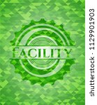 facility green emblem with...   Shutterstock .eps vector #1129901903