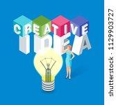 creative idea concept. image of ... | Shutterstock .eps vector #1129903727