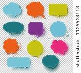 retro colorful speech bubble... | Shutterstock .eps vector #1129923113