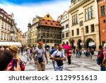 prague  czech republic .the ... | Shutterstock . vector #1129951613