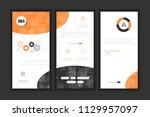 molecule background dna page... | Shutterstock .eps vector #1129957097