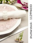 table with dishes prepared for... | Shutterstock . vector #112996033