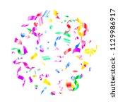 red blue green yellow foil... | Shutterstock .eps vector #1129986917