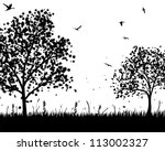 vector grass silhouettes... | Shutterstock .eps vector #113002327