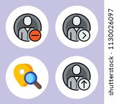 simple 4 icon set of user...
