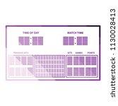 tennis scoreboard icon. flat...   Shutterstock .eps vector #1130028413
