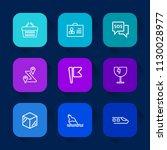 modern  simple vector icon set... | Shutterstock .eps vector #1130028977