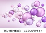 3d multicolored decorative... | Shutterstock .eps vector #1130049557