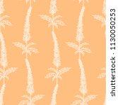 vector seamless outline floral... | Shutterstock .eps vector #1130050253