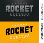 modern alphabet fonts and... | Shutterstock .eps vector #1130062913