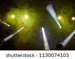 yellow light  smoke  floodlight ... | Shutterstock . vector #1130074103