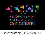vibrant color modern font ... | Shutterstock .eps vector #1130085713