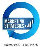 Marketing strategies cycle illustration design over white - stock photo