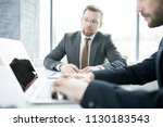 portrait of  young businessman...   Shutterstock . vector #1130183543