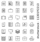thin line vector icon set  ... | Shutterstock .eps vector #1130192213