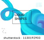 dynamic shapes composition. 3d... | Shutterstock .eps vector #1130192903