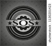 sos realistic dark emblem | Shutterstock .eps vector #1130201423
