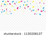 many falling colorful tiny... | Shutterstock .eps vector #1130208137