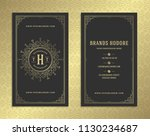 luxury business card and... | Shutterstock .eps vector #1130234687