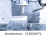 CNC machine - stock photo
