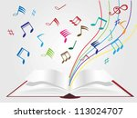 music on book background | Shutterstock .eps vector #113024707