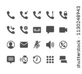 telephone glyph icons | Shutterstock .eps vector #1130248943