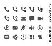 telephone glyph icons   Shutterstock .eps vector #1130248943
