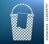 bucket and a rag sign. vector....   Shutterstock .eps vector #1130254757