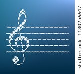 music violin clef sign. g clef. ... | Shutterstock .eps vector #1130256647