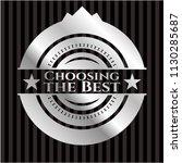choosing the best silvery badge   Shutterstock .eps vector #1130285687