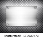 pattern of metal texture... | Shutterstock .eps vector #113030473