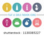 flat ui 8 color girls fashion... | Shutterstock .eps vector #1130385227