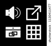 filled set of 4 interface icons ... | Shutterstock .eps vector #1130411477