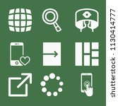 filled set of 9 interface icons ... | Shutterstock .eps vector #1130414777