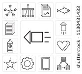 set of 13 simple editable icons ... | Shutterstock .eps vector #1130431433