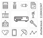 set of 13 simple editable icons ... | Shutterstock .eps vector #1130431547