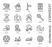 set of 16 icons such as...   Shutterstock .eps vector #1130435237