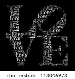 love in word collage | Shutterstock . vector #113046973
