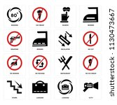 set of 16 icons such as cctv ...