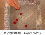woman with long nails and lots... | Shutterstock . vector #1130476943
