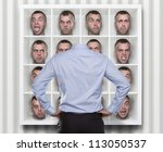 confused conceptual image ... | Shutterstock . vector #113050537