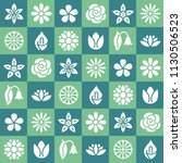 flowers seamless pattern with...   Shutterstock .eps vector #1130506523