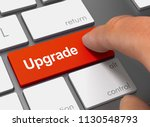 upgrade pushing keyboard with...   Shutterstock . vector #1130548793