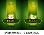 pear  apple. vector | Shutterstock .eps vector #113056027