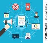 content marketing  advertising... | Shutterstock .eps vector #1130611817